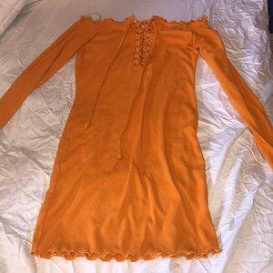 Heart & hips off the shoulder dress